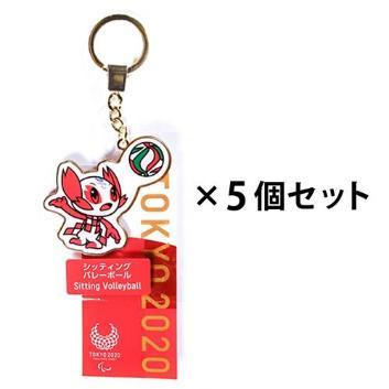 シッティングバレーボール5個セット(東京2020パラリンピックマスコット)