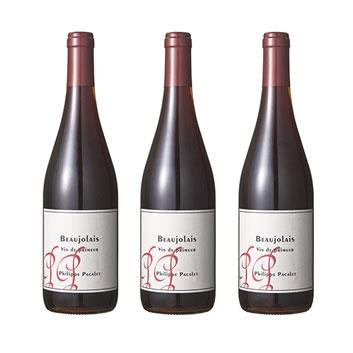 【送料無料】<フィリップ・パカレ>ボジョレー・ヴァン・ド・プリムール【2021】(赤ワイン)3本セット