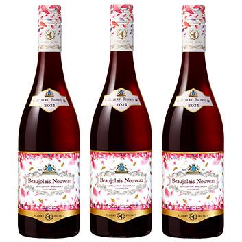 【送料無料】<アルベール・ビショー>ボジョレー・ヌーヴォー【2021】(赤ワイン)3本セット