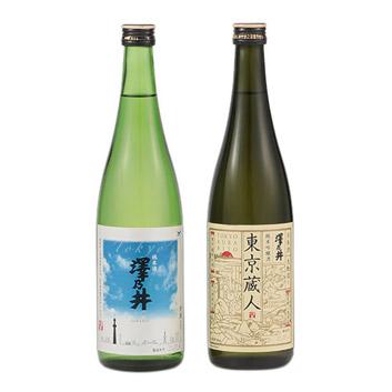 <澤乃井>ANAオリジナル純米&純米吟醸酒セット