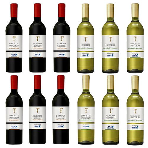 【送料無料】2019年度機内ワイン エコノミークラス赤白ワイン12本セット