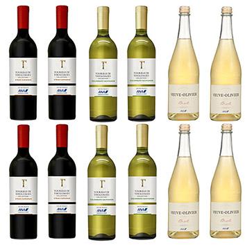 【送料無料】2019年度機内ワイン エコノミークラス赤白スパークリングワイン12本セット