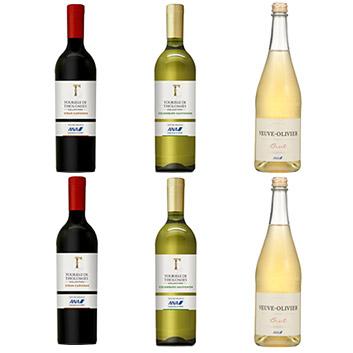 【送料無料】2019年度機内ワイン エコノミークラス赤白スパークリングワイン6本セット