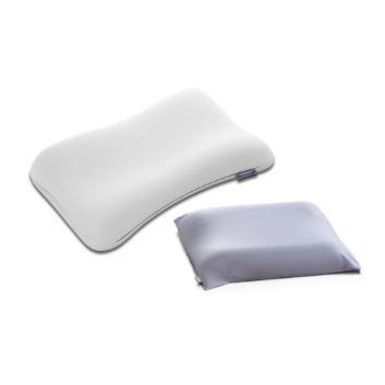 <テクノジェル>ピクセルアナトミックカーブピロー(サイズ11)+専用枕カバー(ラベンダーブルー)特別セット