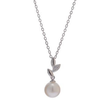 <ANA STORE@SKY(機内販売)商品>オッコ真珠 アコヤ真珠 ダイヤモンド ネックレス