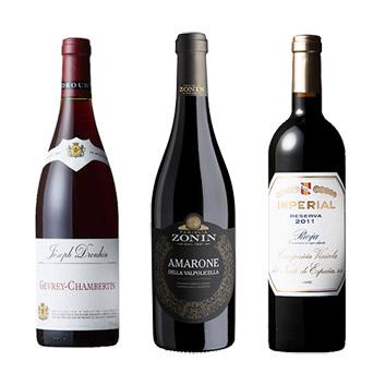 【ANAセレクション】<ブルゴーニュ・アマローネ・リオハ>ヨーロッパ銘醸地赤ワインセット