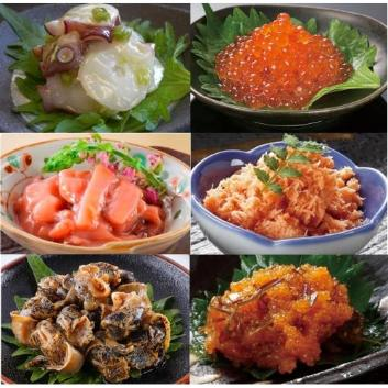 <釧路おが和>北海道の味覚6種セット(いくら入)