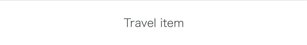 Travel item
