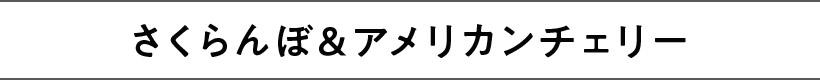 さくらんぼ&アメリカンチェリー