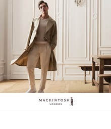 <MACKINTOSH LONDON>ANA meets MEN'S CLUB MAGAZINE