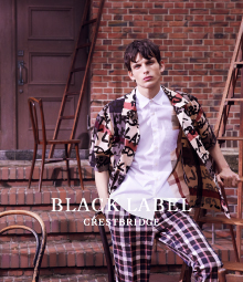 <BLACK LABEL CRESTBRIDGE>ANA meets MEN'S CLUB MAGAZINE