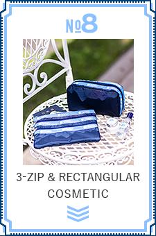 NO.8 3-ZIP & RECTANGULAR COSMETIC