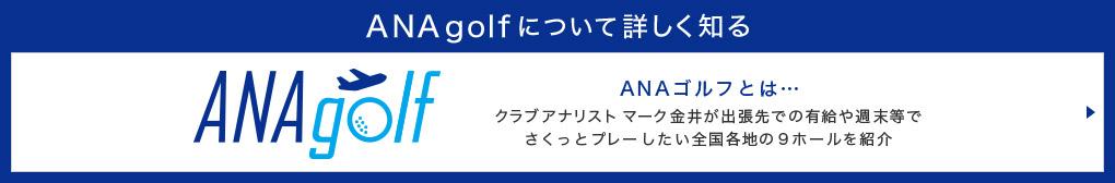 ANAgolfについて詳しく知る ANAgolf ANAゴルフとは… クラブアナリスト マーク金井が出張先での有給や週末等でさくっとプレーしたい全国各地の9ホールを紹介
