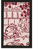<ANAオリジナル>かまわぬ for ANA てぬぐい 鳥獣戯画(秋旅)