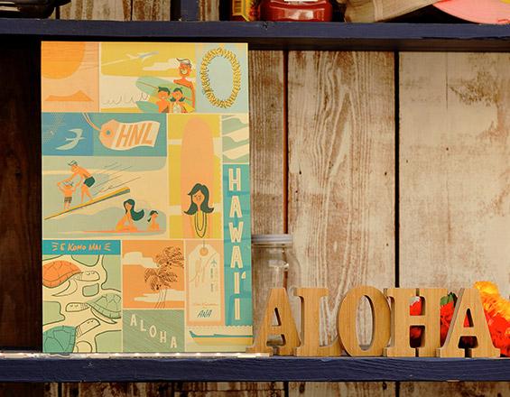 <ANAオリジナル>Nick Kuchar for ANA オリジナルアートプリント