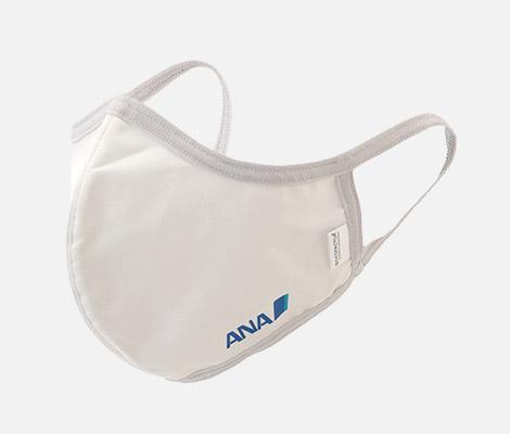 <ANAオリジナル>ウォッシャブルマスク(マスクケース付き)ホワイト(Lサイズ)