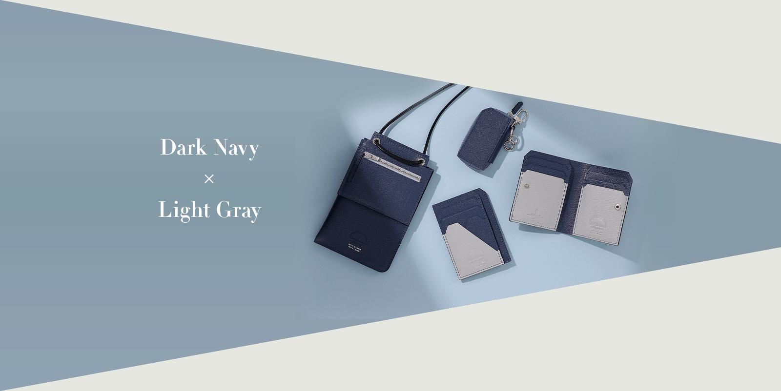 Dark Navy × Light Gray