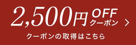 2,500円OFFクーポン クーポンの取得はこちら