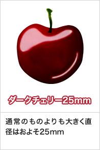ダークチェリー25mm 通常のものよりも大きく直径はおよそ25mm