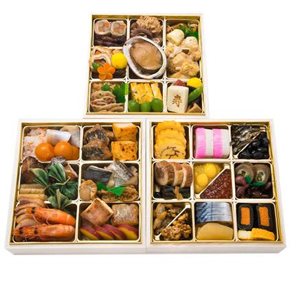 <ANAオリジナル>生おせち 日本料理 「一乃松」 謹製おせち三段重