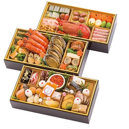 ★北陸・富山の郷土色豊かな料理を盛り込んだ★<千里山荘>おせち料理 和三段重
