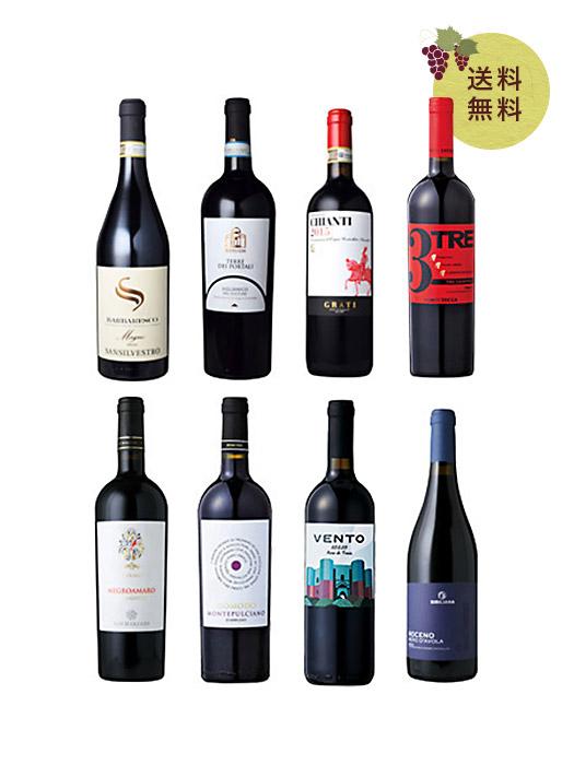 本間チョースケセレクト!バルバレスコ入り!イタリア土着品種赤ワイン8本セット