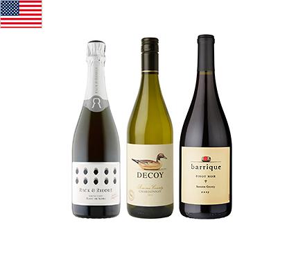 【送料無料】A-styleソムリエが選んだ、エレガントなソノマワイン赤白泡3本セット