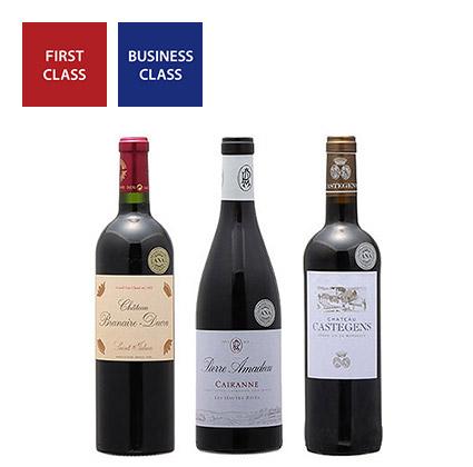 2019年度機内ワイン ファーストクラス、ビジネスクラス赤ワイン3本セット