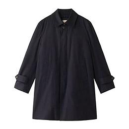 【メンズクラブ2・3月号掲載】<Jプレス>先染めギャバステンカラーコート/ネービー