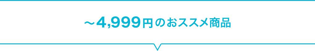 ~4,999円のおススメ商品
