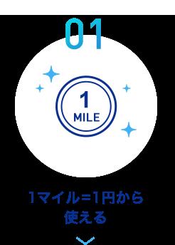 01 1マイル=1円から使える